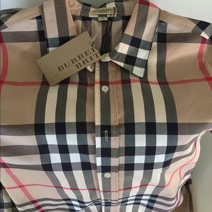 Men's Burberry button down shirt